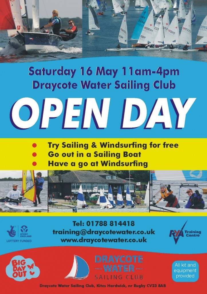 Open Day Saturday 16th May 2015