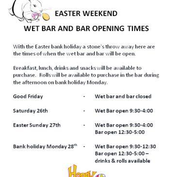 Easter weekend opening times