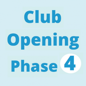 Club Reopening – Phase 4